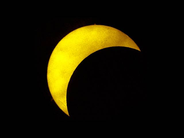 Partial solar eclipse with a transit of the ISS - March 20 2015