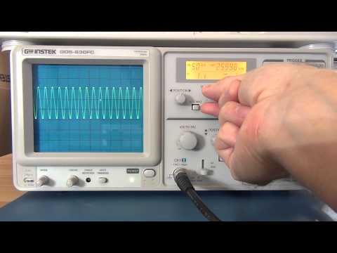 Intro. Review and Tutorial of Analog Oscilloscopes  Pt 1 - GW Instek GOS-630FC