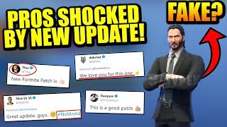 PRO Players SHOCKED By BEST Fortnite Update EVER.. John Wick SKIN Is FAKE?