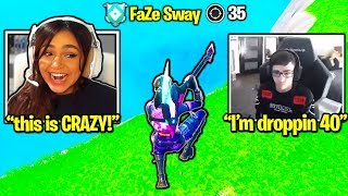 She got 40 KILLS w/FaZe SWAY! (Fortnite)