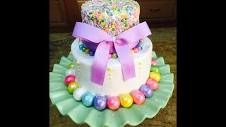 Candy and Sprinkles Cake- Cake Decorating