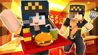 Minecraft McDonalds - MY FIRST JOB AT MCCRAFTERS GONE WRONG! EVIL BABY!? (Minecraft Roleplay) #1