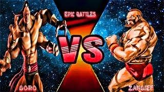 Zangief Vs Goro: Mortal Kombat vs Street fighter