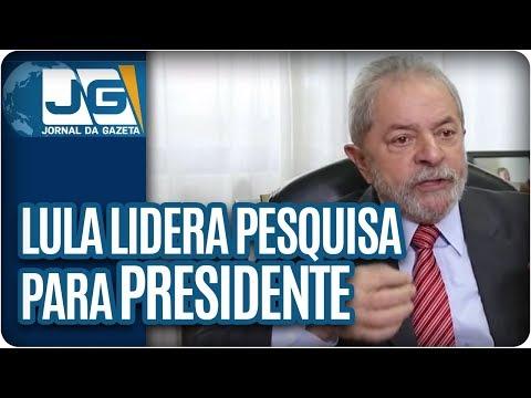 Lula lidera pesquisa para presidente