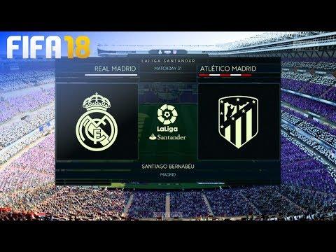 FIFA 18 - Real Madrid vs. Atlético Madrid @ Estadio Santiago Bernabéu thumbnail