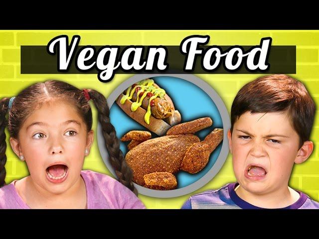 KIDS EAT VEGAN FOOD! Vegan Shrimp, Chicken, Ice CreamPPKids Vs. Food