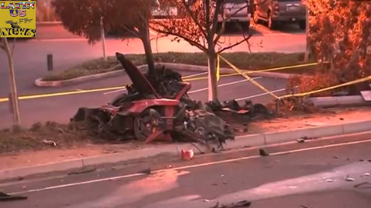 paul walker dies car crash aftermath raw footage fast. Black Bedroom Furniture Sets. Home Design Ideas