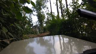 Offroading climbing 2 KMs uphill in Mahindra JEEP 1995 4x4