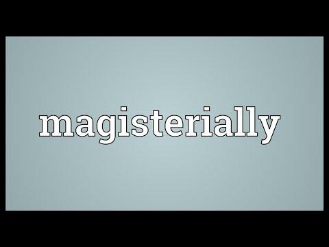 Header of magisterially