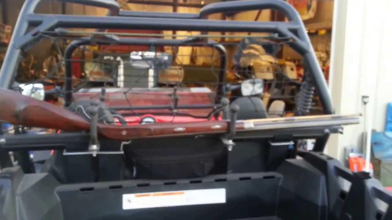 Home Built Polaris Rzr Xp Utv Gun Racks By Itchy Youtube