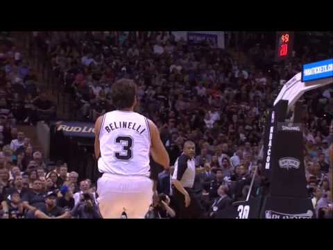 NBA, playoff 2014, Spurs vs. Trail Blazers, Round 2, Game 1, Move 10, Marco Belinelli, 3 pointer