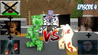 Monster School : Baldi's Jason Granny Grandpa FNAF Episode 4 (Ressurection)- Minecraft Animation