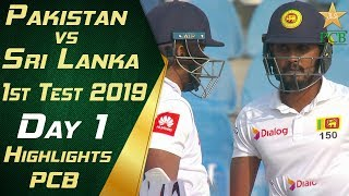Pakistan vs Sri Lanka 2019 | Short Highlights Day 1 | 1st Test Match | PCB