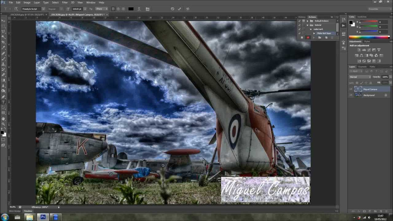 how to add my watermark in photoshop cc