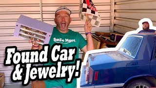 FOUND CAR & JEWELRY BOX in $100 storage! I bought an abandoned storage unit & found car jewelry