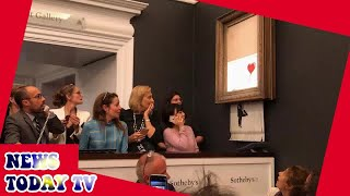 Woman who bought shredded Banksy Girl With Balloon painting to keep it