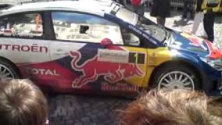 Sebastien Loeb part en courant WRC France-Alsace @ Mulhouse
