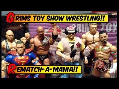 GTS WRESTLING: REMATCHAMANIA !!! WWE Wrestlemania Parody Wrestling figures matches