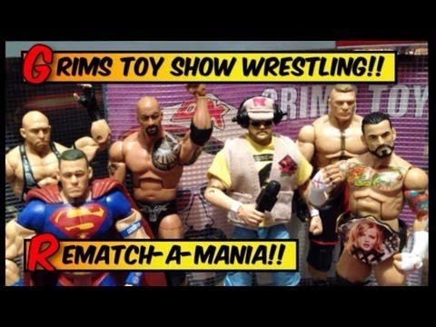 GTS WRESTLING: REMATCHAMANIA !!! WWE Wrestlemania Parody Wrestling figures matches