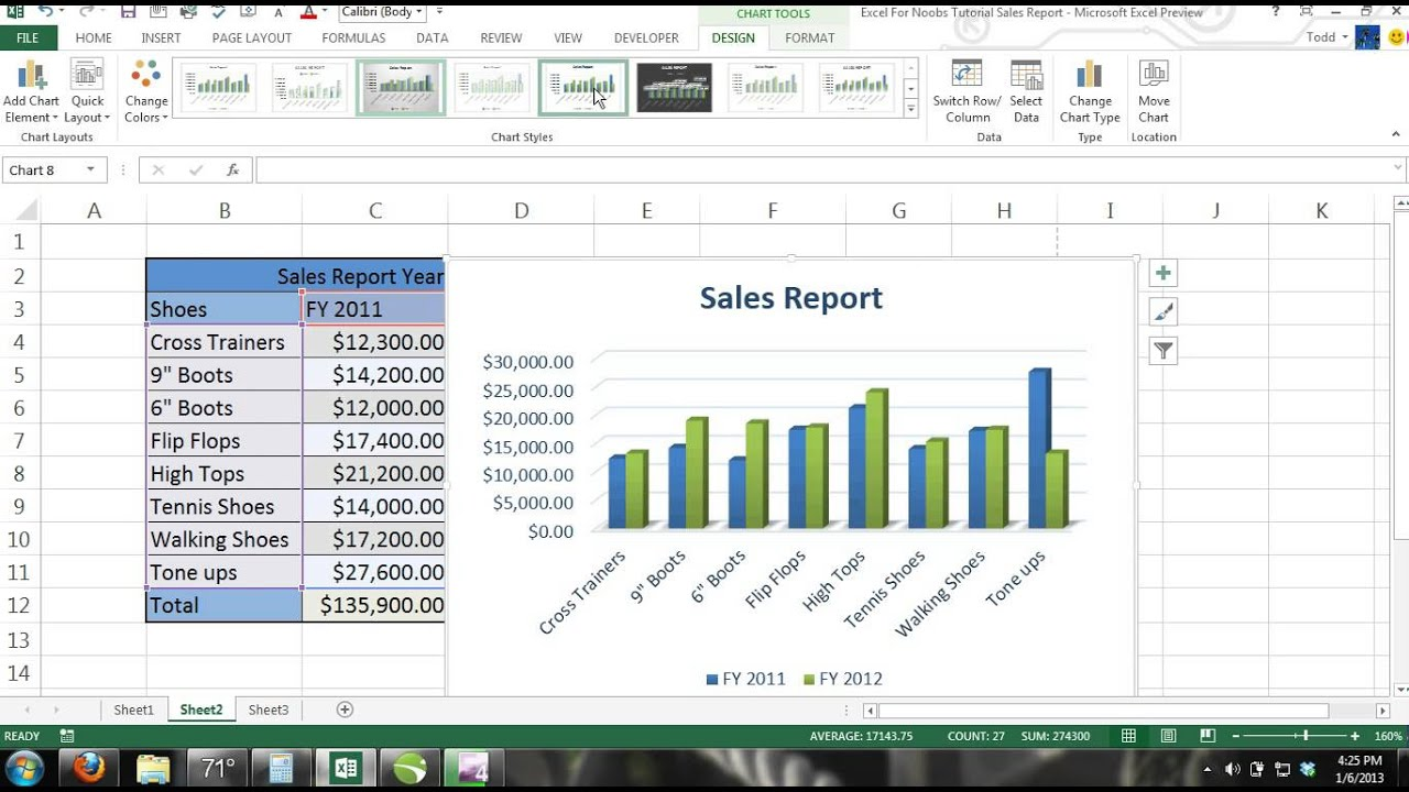Microsoft Excel Tutorial For Beginners  13  Charts