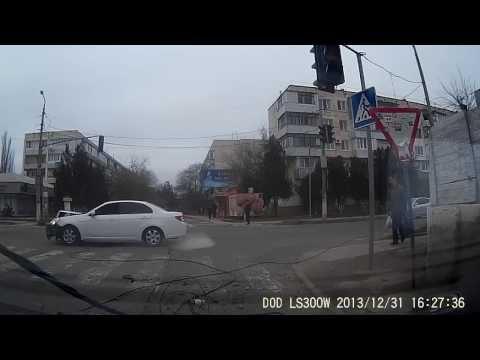Дорожное происшествие (дтп) в г. Саки, Крым 31.12.2013г