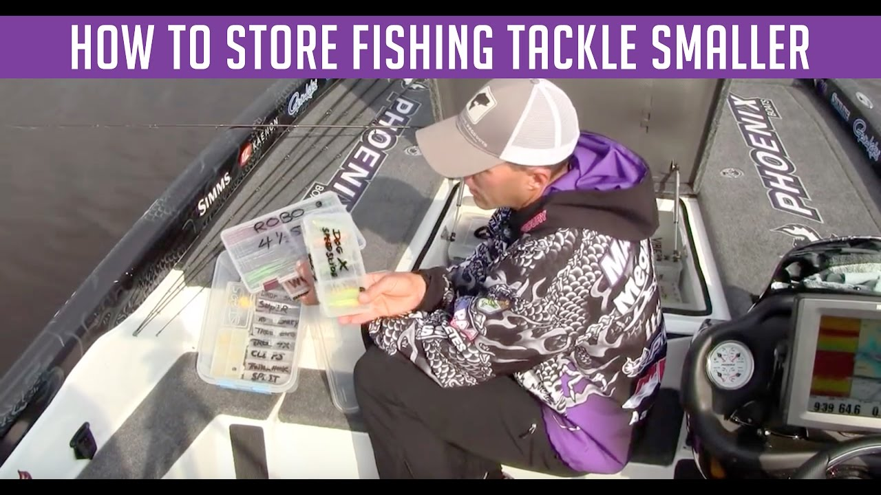 how to store fishing tackle youtube