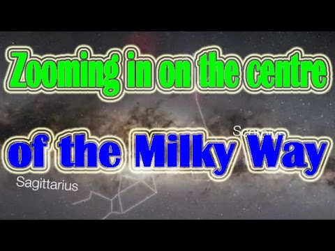 Zooming in on the centre of the Milky Way   Space & Sola System Documentary Video  Star Video
