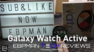 NEW Samsung Galaxy Watch Active | Unboxing and First impressions
