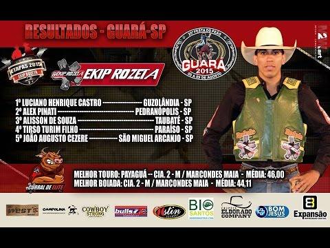Final Do Rodeio Em Touros De Guará - SP - 2015