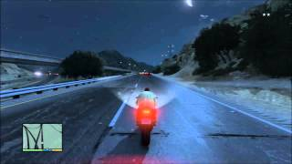 GTA V Police Chase Highway Full Speed no crashing getaway