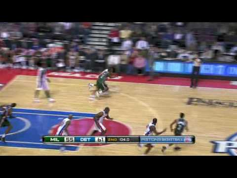 Pistons vs. Bucks Game Recap 2009.12.04
