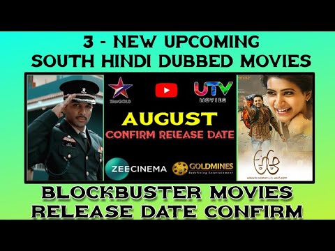 August - 3 Upcoming New South Hindi Dubbed Movies | Surya The Solider  Hindi Dub Movie | Allu Arjun
