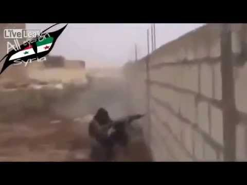 *GRAPHIC* ISIS Terrorist gets shot by Kurd Sniper-War Against ISIS Escalates