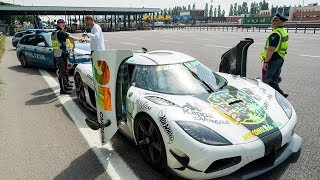 Police NOT HAPPY - SPEEDING in a $5.4M Koenigsegg!