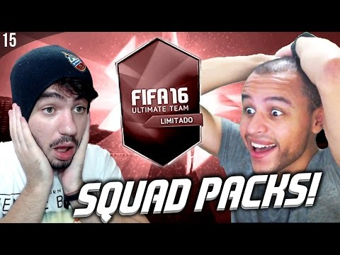 INACREDITÁVEL!  |  SQUAD PACKS ft. FIFALIZE! | FIFA 16 UT