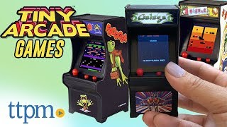 Tiny Arcade Frogger, Galaga, and Dig Dug from Super Impulse