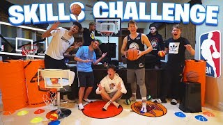 INDOOR BASKETBALL OBSTACLE COURSE SKILLS CHALLENGE!