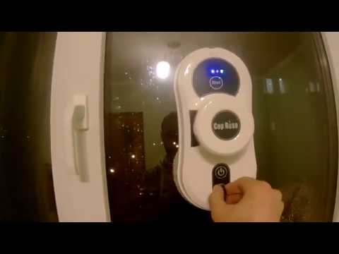 Как работает мойщик окон Cop Rose Smart Robot Window Cleaner ?
