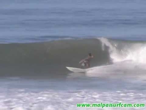 malpaisurfcam.com 01-18-12 Santa Teresa Costa Rica Central America.wmv