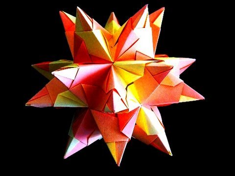 how to make an origami great stellated dodecahedron youtube