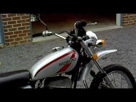 1975 Suzuki TS400 TS 400 Apache Walk Around motorcycle street trail vintage