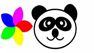 Learning Colors with Panda Pig Friends Coloring Pages   How To Draw Panda Pig Kids Videos For Kids