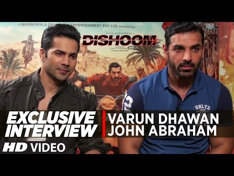 DISHOOM | Exclusive Interview | John Abraham, Varun Dhawan | T-Series