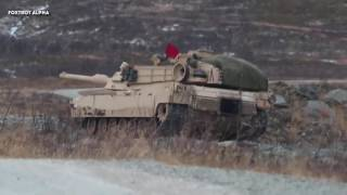 U.S. Marines learn to operate tanks in extreme cold weather environments