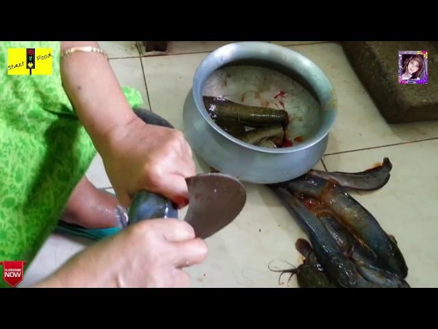 Desi magur fish cat fish cutting technique   How to cat fish cutting processing showing Mom