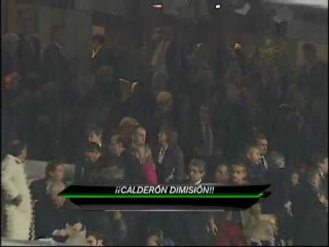 Ramón Calderón, pidiendo la dimisión de Ramón Mendoza (Asamblea Real Madrid 1995)