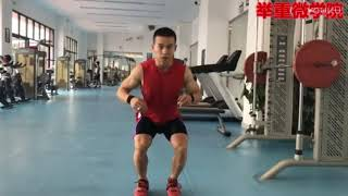 Back Squat Lesson -  Olympic Silver Medalist Wu JingBiao With Translation
