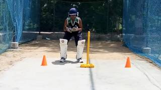 Vivek Dipak Joshi During Wicket Keeper Practice .