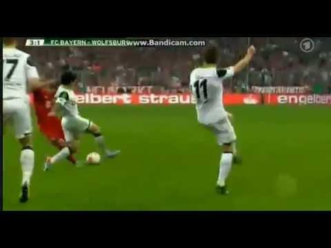 Shaqiri Goal Bayern Munchen 6 vs 1 VFL Wolfsburg (16.04.2013)
