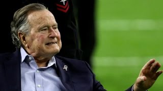 George H.W. Bush gets special visitor